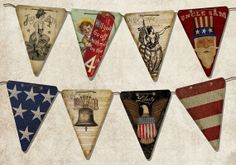 Wood Americana Banner ready to hang by ZellnerPrimitives on Etsy, $39.99
