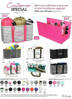 May 2015 Customer Special! Anyone who has a large utility tote needs this stand tall insert! Thirty One Totes, Thirty One Gifts, Thirty One Business, Large Utility Tote, Thirty One Consultant, 31 Gifts, 31 Bags, Organize Your Life, First Girl