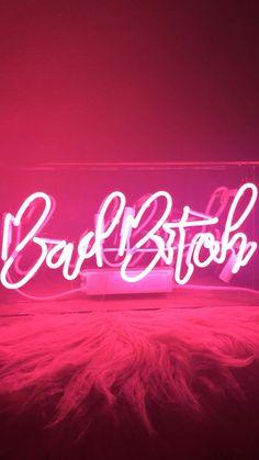 Pink Neon Wallpaper, Bad Girl Wallpaper, Bling Wallpaper, New Wallpaper, Wallpaper Quotes, Pink Neon Lights, Pink Neon Sign, Neon Light Signs, Neon Signs