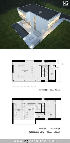 modern house plan Boss designed by NG architects www.ngarchitects.eu