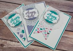 Stampin' Up! UK Feeling Crafty - Bekka Prideaux Stampin' Up! UK Independent Demonstrator: Happy Hello Cards Made Using Stampin' Up! UK Supplies