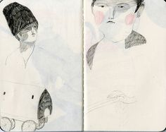 sketchbook work by Melissa Castrillon, via Flickr