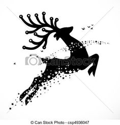 Image result for christmas stag illustrations