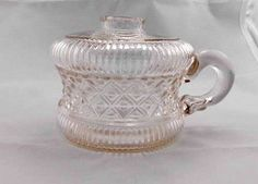 Vintage Glass  Bottom of Vintage Oil Lamp  Gift Idea  by Pastfinds, $35.00