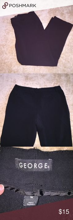 """George"" Black Pants Gently used ""George"" Black Pants. Figure flattering and perfect for work office outfit. George Pants"