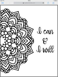 Motivational Mandala Free Coloring Pages There Are Three Different Styles To Choose From