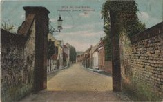 View from the castle-gate at the Muntstraat Wijk bij Duurstede in the beginning of the 20th century