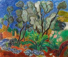 hans purrmann | Hans Purrmann Olivenbäume auf Ischia , 1955 47 x 56 cm. (18.5 x 22 in ...