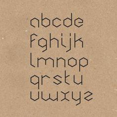 Honeycomb font #tipografia