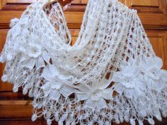 crochet shawl fashiongift valentine  winter trends by likeknitting, $49.99