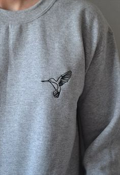 Embroidered Hummingbird Jumper