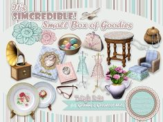 Granny's Greatest Hits decor objects by SIMcredible! - Sims 3 Downloads CC Caboodle
