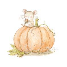 Children illustration pumpkin halloween