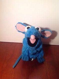 """Disney Store Tutter Mouse Plush Bean Bag Blue Bear Big Blue House 7"""" Rare Htf"""