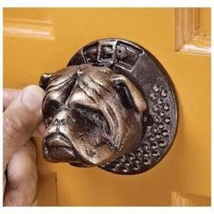 Bulldog Authentic Foundry Iron Door Knocker: Set of Two