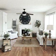 Best Farmhouse Living Room Makeover Decor Ideas 19