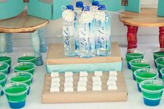 Summer Beach Party - Water BOttle ideas jello ideas and candy wraps