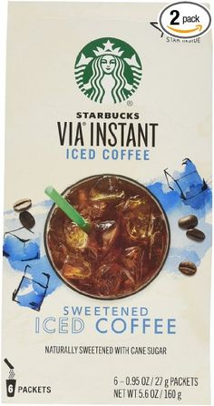 Starbucks VIA Iced Coffee, 6-Count Packages (Pack of 2)