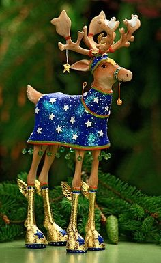 Patience Brewster Reindeer Figurines I  love these!!!