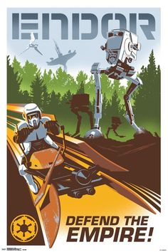 24x36 Star Wars - Endor
