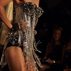 Chainmail corset The Blonds