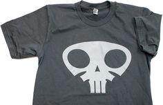 TopatoCo: Question Sleep Skull Shirt (Asphalt)