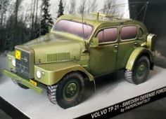 Volvo TP 21 SUGGA Paper Model - by Papercrafts.It - == -  The Volvo TP 21 was based on a light truck frame fitted with modified body of the Volvo PV830 taxi. The shortened wheelbase, extra large terrain tires and high ground clearance proved very effective in off-road conditions. The TP21 was produced during the years 1953-1958 for the Swedish Defense Force and used for over three decades (many as radio car). Paper model scale 1/35. - Papercrafts.It