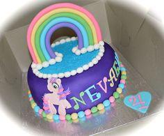 My Little Pony Cake. My Little Pony birthday cake girl rainbow pink blue yellow party birthday kids