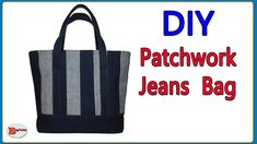 Diy Bags From Old Jeans, Bag Jeans, Diy Bags Tutorial, Bag Pattern Free, Patchwork Jeans, Fabric Scraps, Alter, Videos, Creations