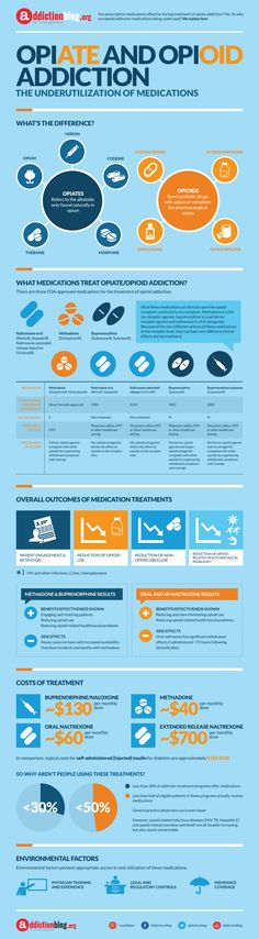 Opiate And Opioid Addiction Infographic
