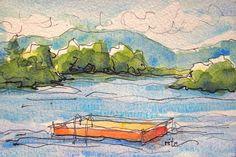 Sketchbook Wandering: The Dock in the Lake