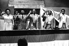 ANC President Oliver Tambo was the main speaker at a rally held in London to mark South Africa Freedom Day on 26 June 1981. Also on the platform were ANC representative Ruth Mompati, FRELIMO leader and future Mozambique President Armando Guebuza, SACTU General Secretary John Gaetsewe and SWAPO Deputy Secretary for Labour P Munyaro. Freedom Day Oliver Tambo