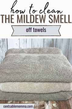 Do you have sour smelling towels with a mildew scent? Use this easy trick to get them smelling fresh again. #cleaninghack #vinegar #laundryhack Deep Cleaning, Spring Cleaning, Cleaning Hacks, Laundry Hacks, Clean House, Vinegar, Towels, Fresh, Easy