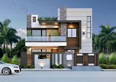 Here you will find photos of interior design ideas. Get inspired! Simple House Exterior Design, House Outer Design, House Roof Design, Modern Small House Design, Home Building Design, Bungalow House Design, Facade House, Latest House Designs, Cool House Designs