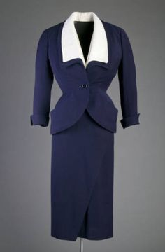 Ensemble, 1951. Wool crepe. Christian Dior-New York