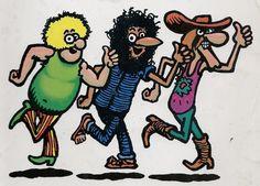 """The Fabulous Furry Freak Brothers"" (by Gilbert Shelton) Underground Comics, Comic Art, Comic Books Art, Book Art, Fat Freddy's Cat, Gilbert Shelton, Brother Quotes, Pulp Art, Comic Character"