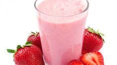 طريقة عمل ميلك شايك الفراولة لايت - Light strawberry milkshake recipe