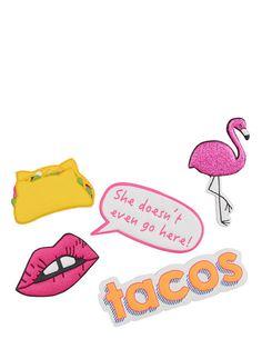 Skinnydip Taco Plushie Sticker Pack