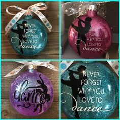 Excited to share this item from my shop: Dance Ornament , tap dance, ballet ornament mother son wedding dance songs, cheerleading dances, dance girl drawing Diy Dance Gifts, Dance Teacher Gifts, Dance Crafts, Ballet Crafts, Vinyl Ornaments, Glitter Ornaments, Diy Christmas Ornaments, Christmas Bulbs, Homemade Christmas
