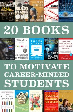20 Books to Motivate Career-Minded Students - Learning Liftoff Reading Library, Student Reading, Education Middle School, Kids Education, Student Information, How To Influence People, Student Success, Children's Literature, Stories For Kids