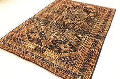 Navy Blue 5' 10 x 8' 7 Hamedan Persian Rug | Persian Rugs | eSaleRugs