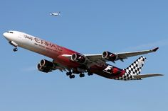 """Etihad Airways Airbus (registered in the """"Abu Dhabi Grand Prix"""" livery Abu Dhabi Grand Prix, Aircraft Painting, Welcome Aboard, Der Bus, Aircraft Pictures, Cool Backgrounds, Cabin Crew, Paint Schemes, Air Travel"""