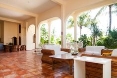 Casa Caribe has a large ground floor terrace for the guests to use