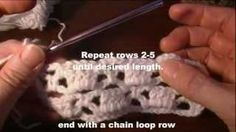 This video demonstrates how to crochet the Bricks & lattice crochet stitch pattern. The written pattern for a scarf that includes a chart is here: http://www...