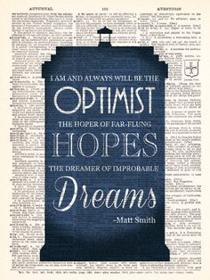 Doctor Who Matt Smith Optimist Quote by TheRekindledPage