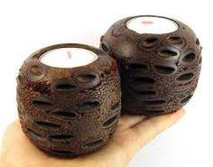 Banksia nut candle holder