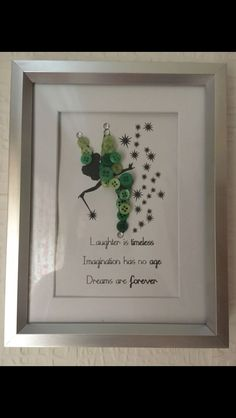 Tinkerbell Disney button art picture