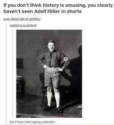 Adolf Hitler in shorts haha