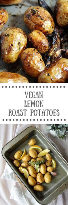 Vegan Lemon Roast Potatoes
