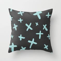 crosses Throw Pillow by her art